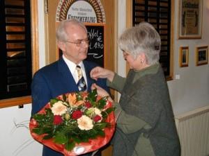 Bild 27: Ehrung von Hinrich Kothe Januar 2004: 20 Jahre 1. Vorsitzender