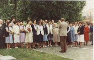 Bild 15: Singen in Langemark (Belgien)